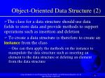 object oriented data structure 2