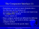 the comparator interface 1
