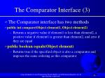 the comparator interface 3