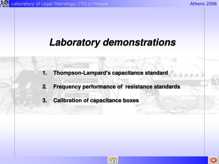 Laboratory demonstrations