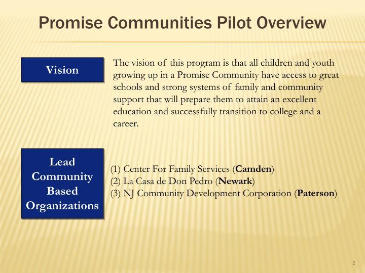 Promise Communities Pilot Overview
