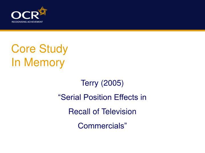 Core Study