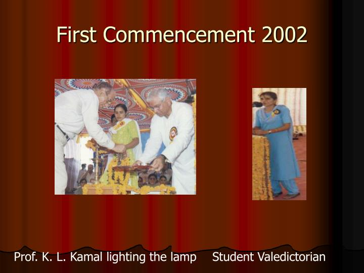 First Commencement 2002