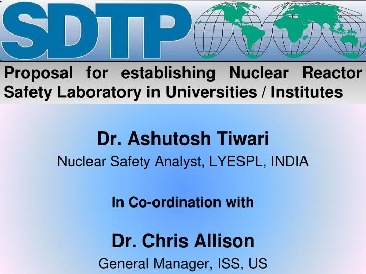 proposal for establishing nuclear reactor safety laboratory in universities institutes n.