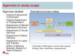 agencies in study scope