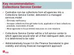 key recommendation collections service center