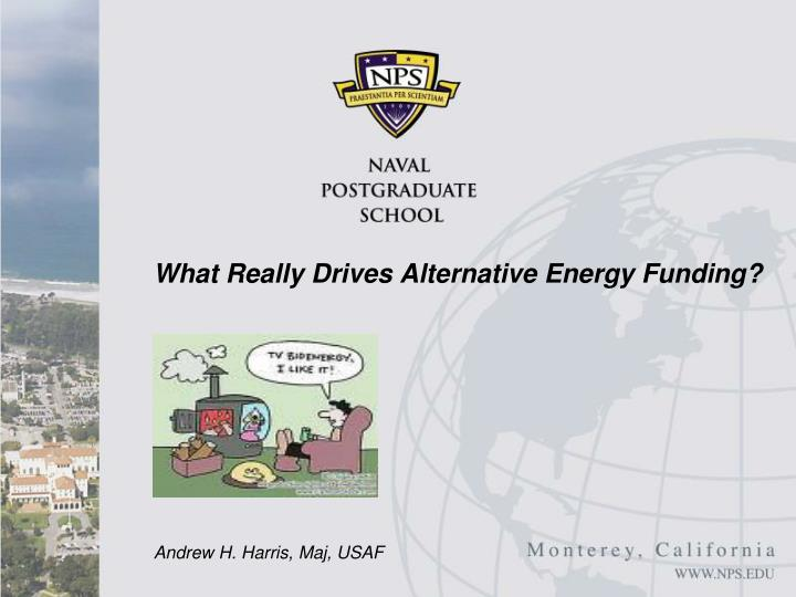 what really drives alternative energy funding n.