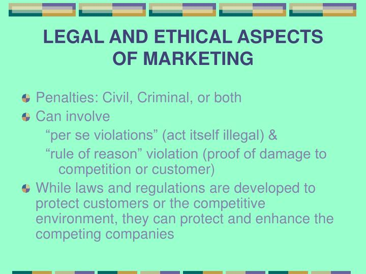 ethical aspects of marketing Marketing ethics is an area that deals with the moral principles behind marketing ethics in marketing applies to different spheres such as in advertising, promotion, pricing however, for purposes of this essay, the ethics of advertisements will be dealt with especially in relation to children.