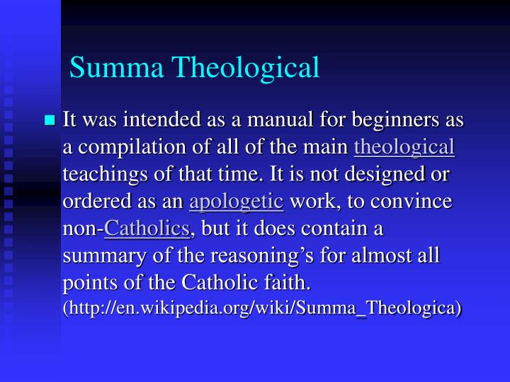 Summa Theological