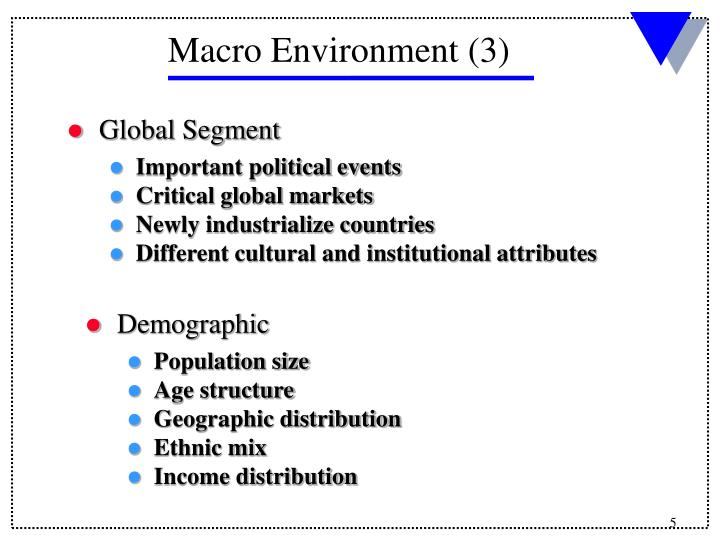 political macroenvironment The macro environment is analysed through a pest (pestle) analysis pest stands for political, legal, economical and social factors lets discuss each pest factor.