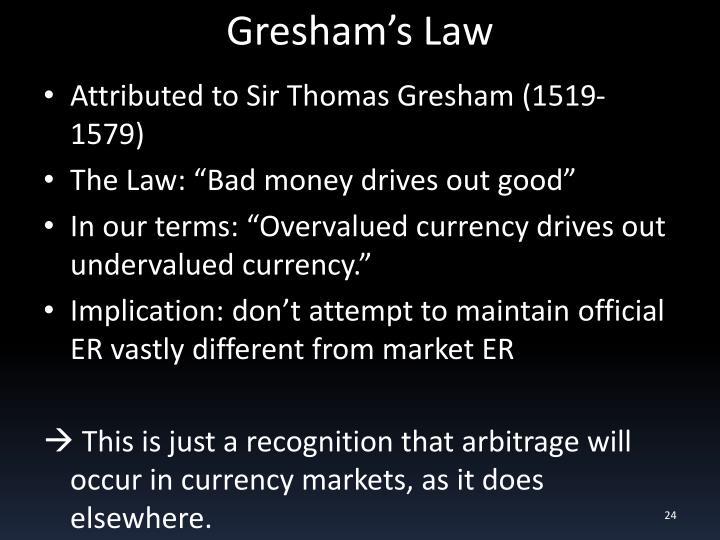 Gresham's Law