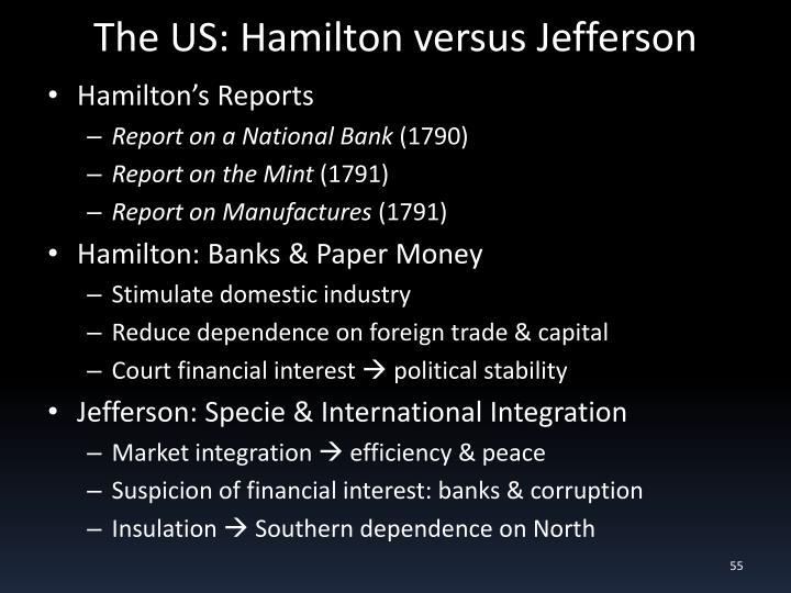 The US: Hamilton versus Jefferson