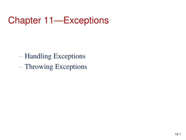 chapter 11 exceptions n.
