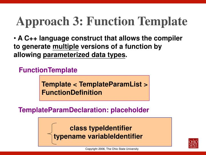 Approach 3: Function Template