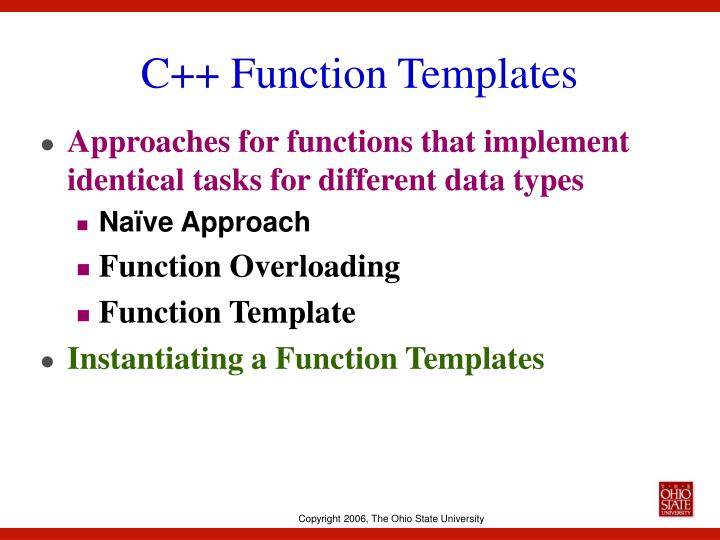 C function templates