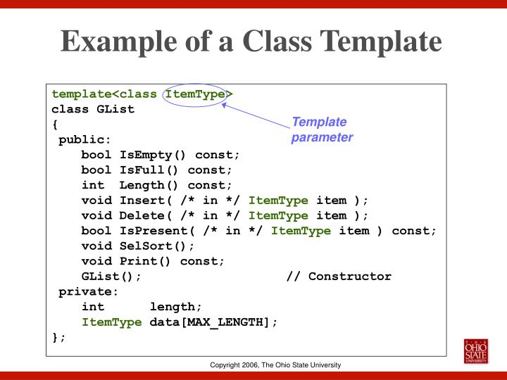 Example of a Class Template