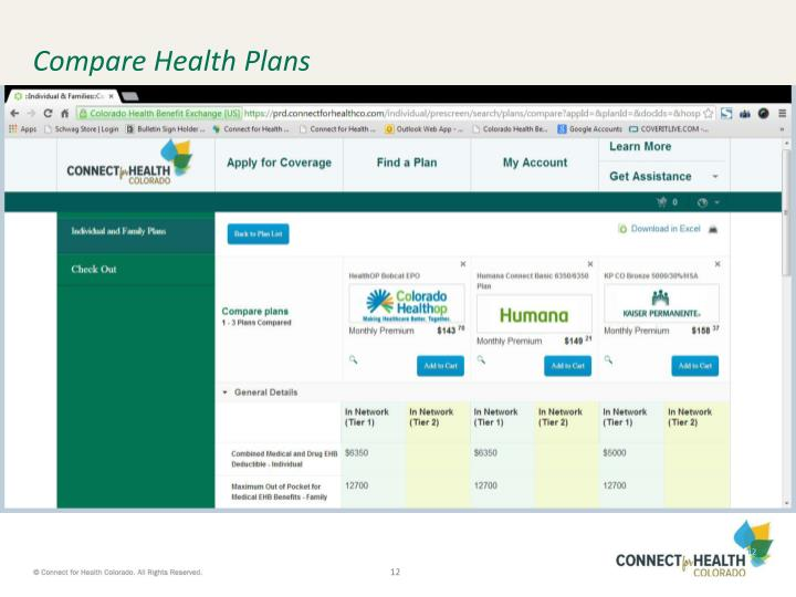Compare Health Plans