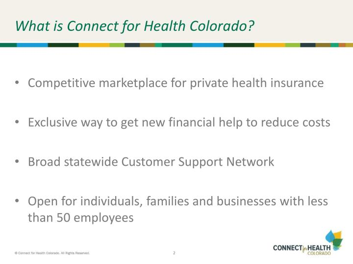 What is connect for health colorado