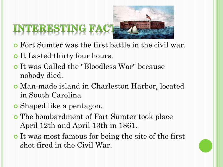 Interesting Facts Fort Sumter
