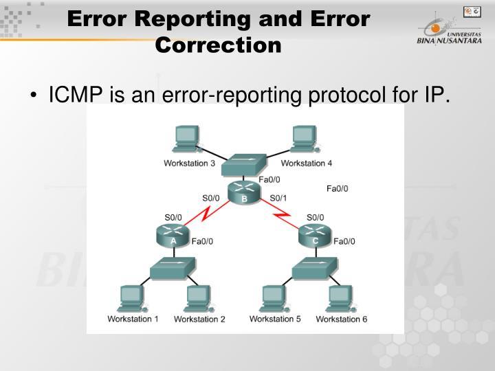 Error Reporting and Error Correction
