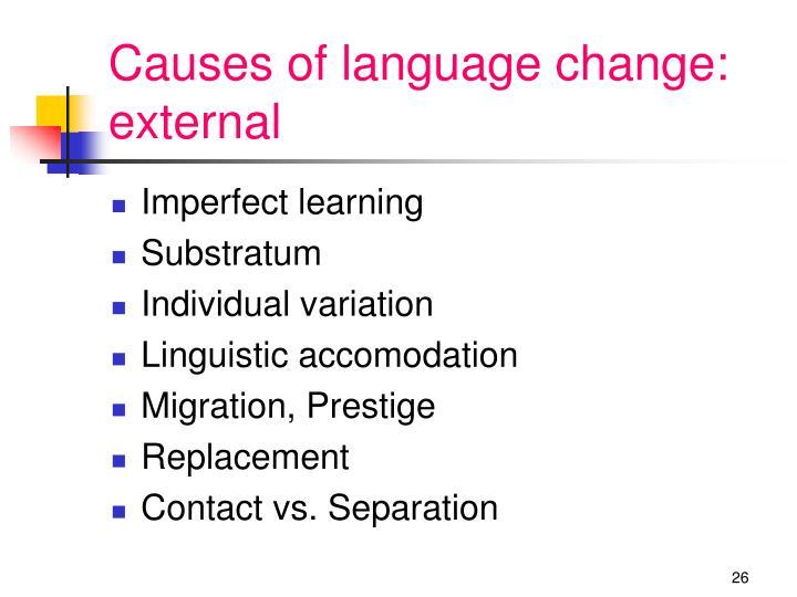 Causes of language change: external