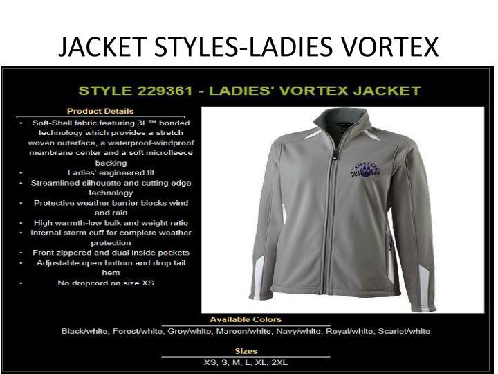 JACKET STYLES-LADIES VORTEX