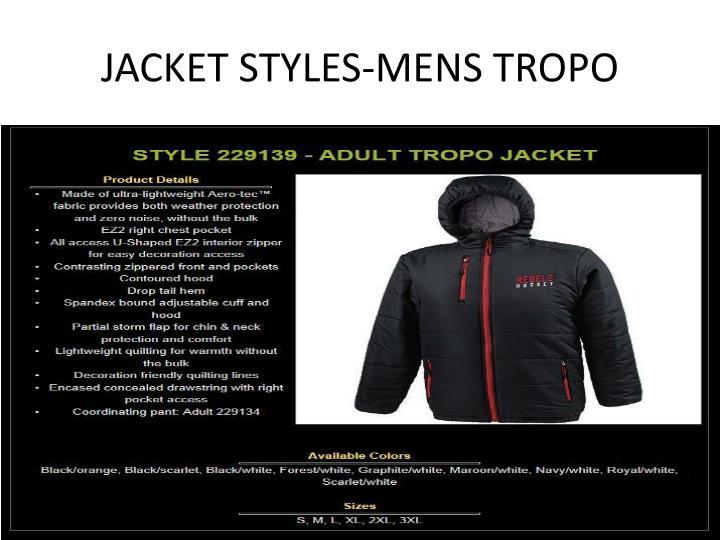 JACKET STYLES-MENS TROPO