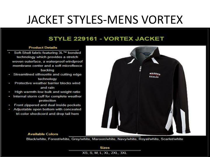 JACKET STYLES-MENS VORTEX