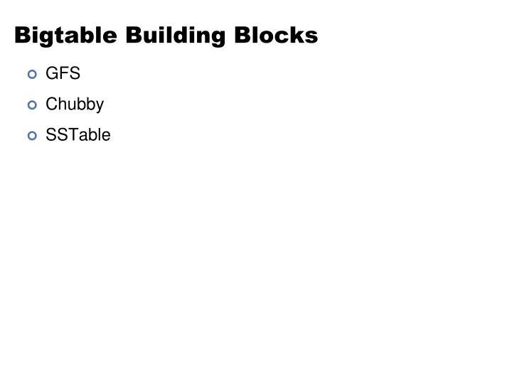 Bigtable Building Blocks