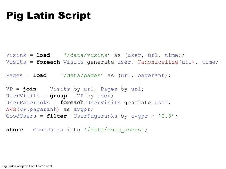 Pig Latin Script