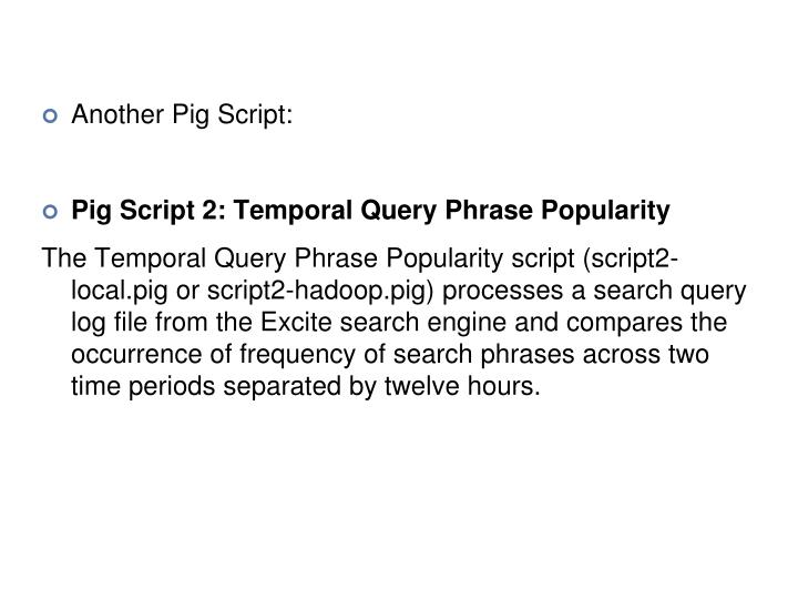 Another Pig Script: