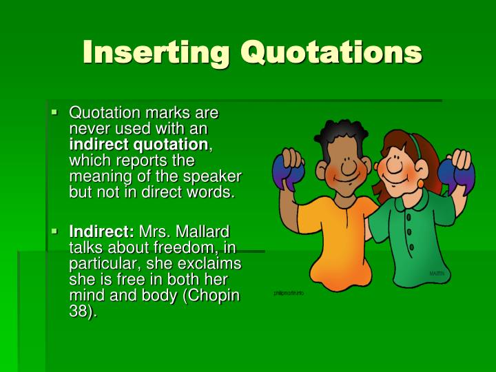 Inserting Quotations
