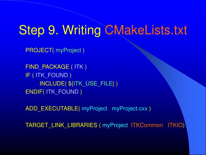 Step 9. Writing