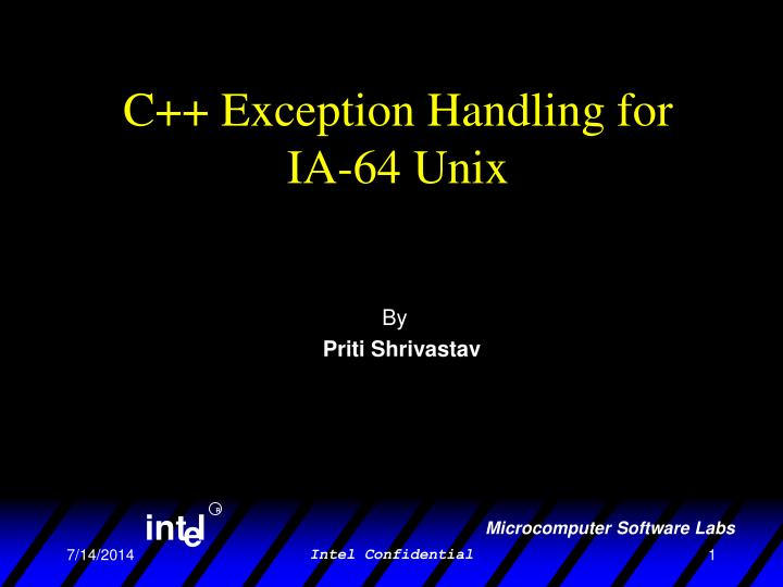 c exception handling for ia 64 unix n.