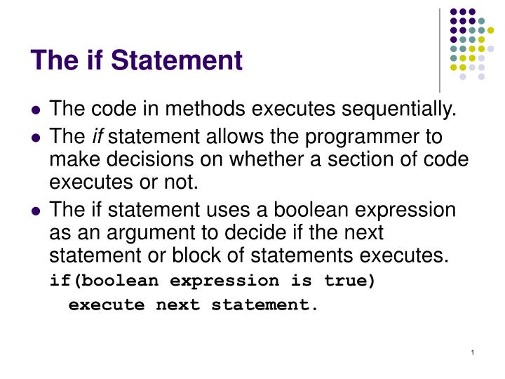 the if statement n.