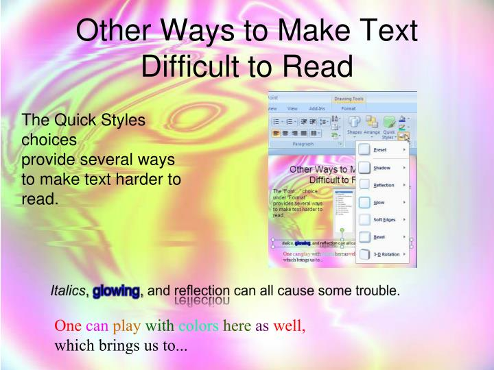 Other Ways to Make Text