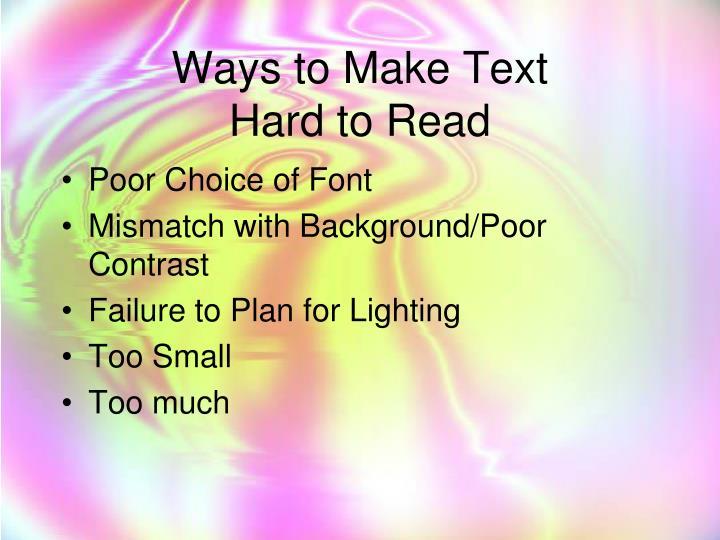 Ways to Make Text