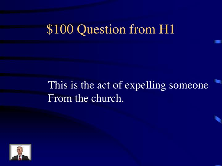 100 question from h1