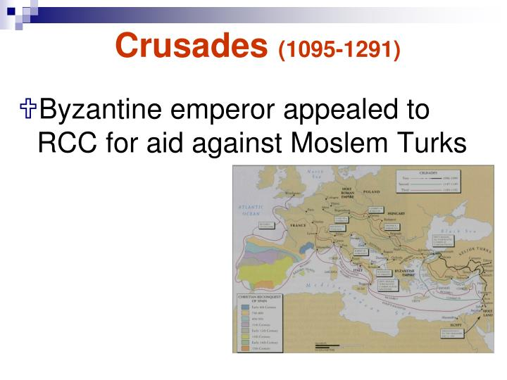 the changes in the byzantine power in the high ages of the year 1095 There were eight major crusades beginning in 1095 departing from the year 711 saw the berber for the crusades was to reconcile roman and byzantine.