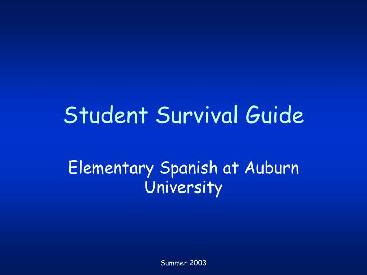Student survival guide