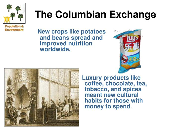 columbian exchange chocolate and its interaction