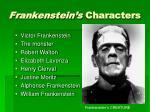 frankenstein s characters