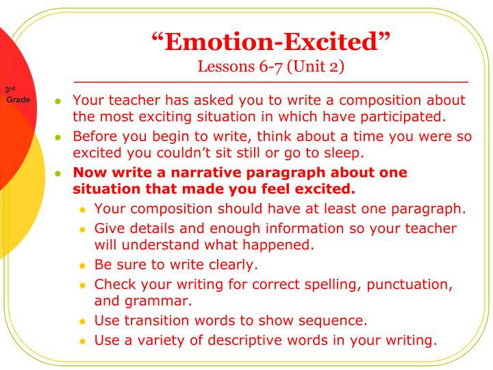 emotion excited lessons 6 7 unit 2 n.