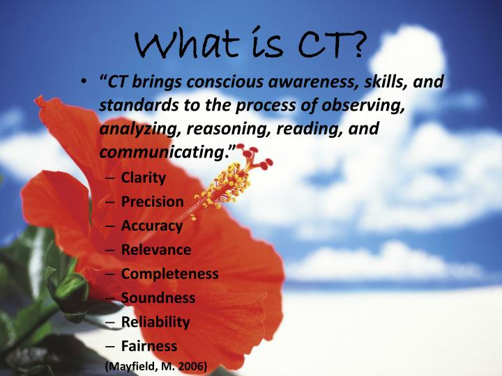 What is CT?