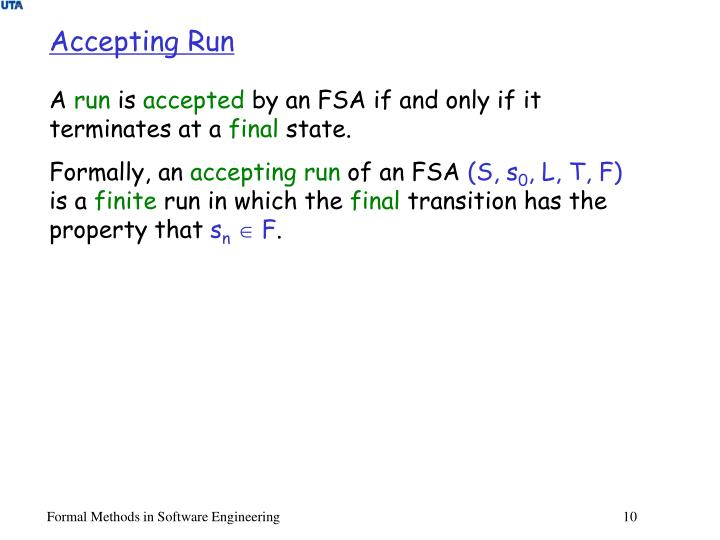 Accepting Run