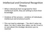 intellectual and emotional recognition theory