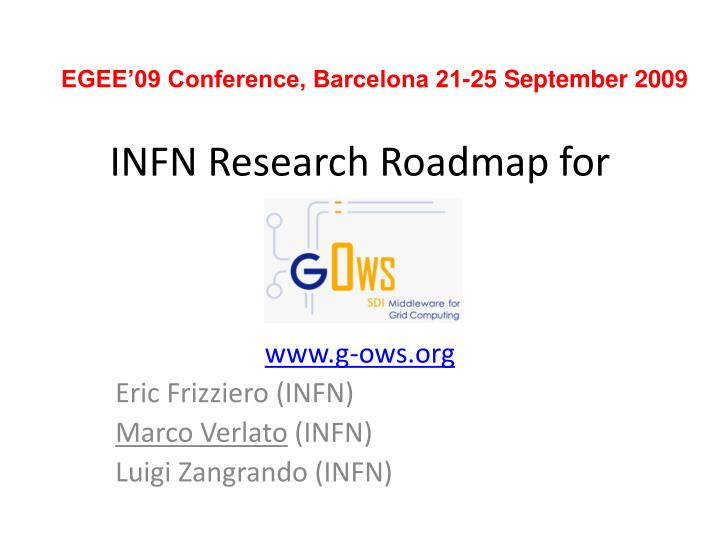 infn research roadmap for n.