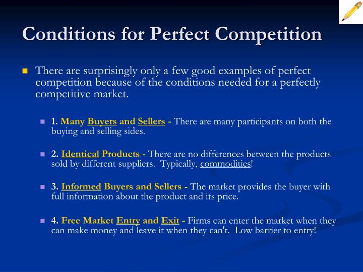 what are some examples of perfect competition