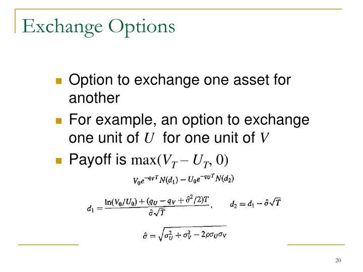 Exchange Options