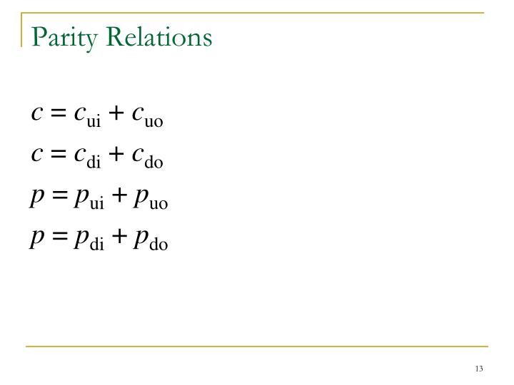 Parity Relations